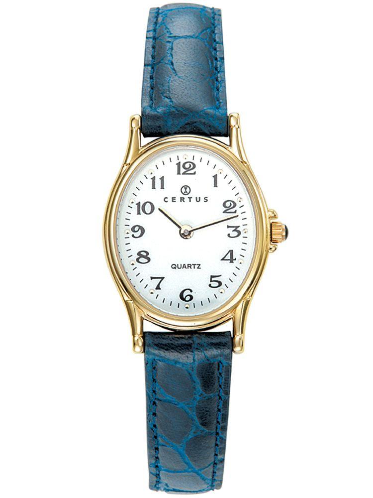 Montre Certus femme bracelet cuir bleu