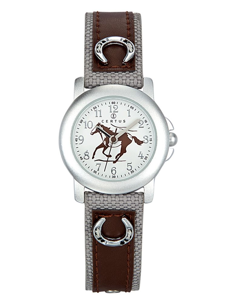 Montre enfant marron motif cheval - Certus