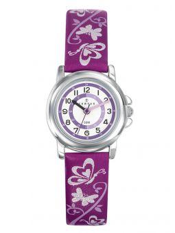 Montre enfant Certus papillon violette foncée