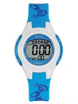 Montre enfant Tekday bleue et blanche 653926