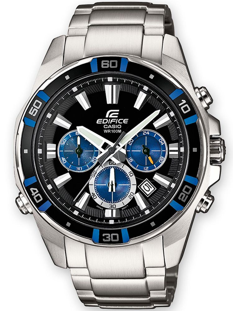 Montre homme Edifice bleue super illuminator
