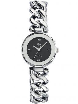 Montre femme Go bracelet tout métal fond noir