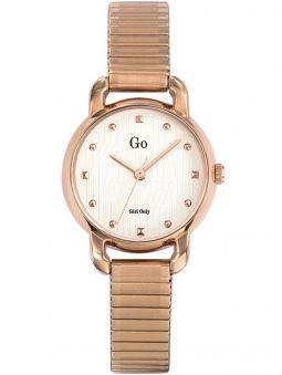 Montre femme Go bracelet extensible rose
