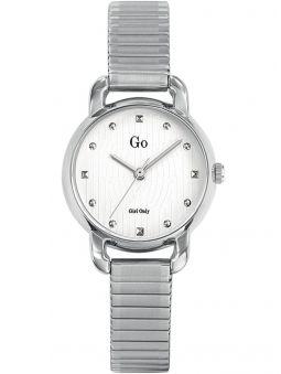 Montre femme Go bracelet extensible argenté