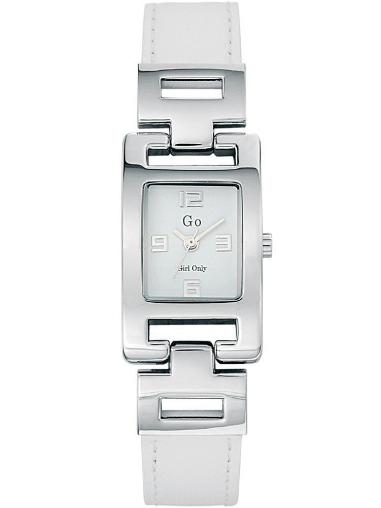 Montre femme Go bracelet cuir blanc
