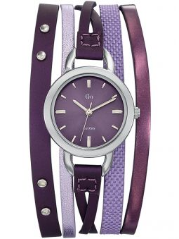 Montre femme Go multi-lanières violette et argentée