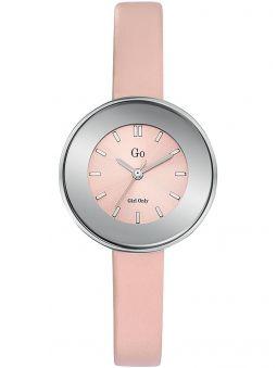 Montre femme Go bracelet cuir rose boite ronde