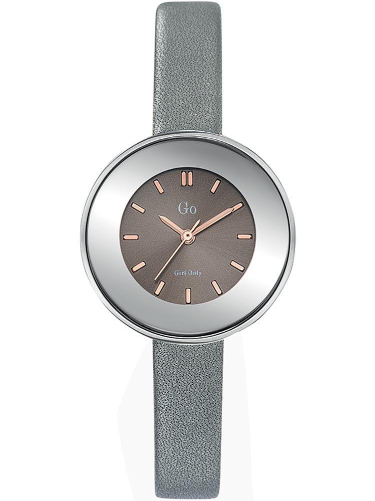 Montre femme Go bracelet cuir gris boite ronde