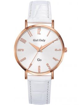 Montre femme Go Girl Only bracelet cuir blanc croco