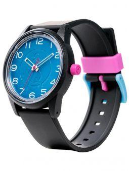Montre Q&Q solaire  bracelet résine cadran bleu