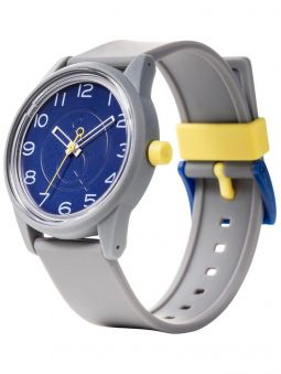 Montre Q&Q solaire  bracelet résine gris