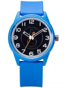 Montre Q&Q  solaire bracelet résine bleu