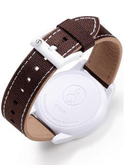 Montre Q&Q solaire bracelet nylon marron