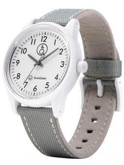 Montre Q&Q solaire bracelet nylon gris