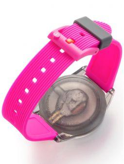 Montre Q&Q solaire bracelet rose fuchsia