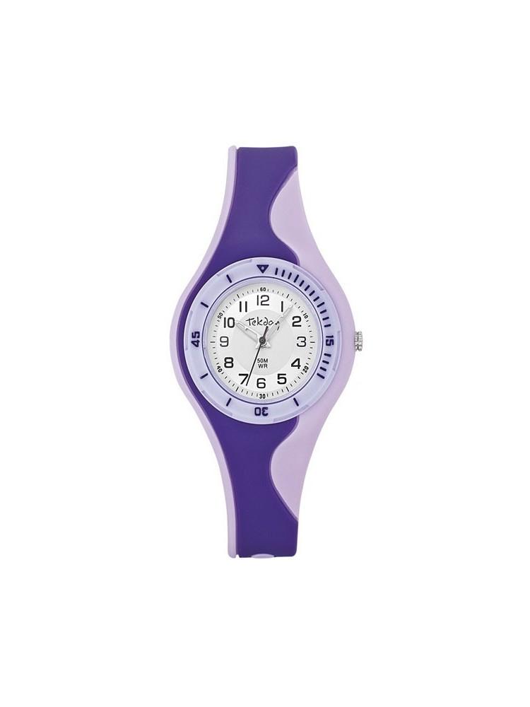 Montre enfant mauve et violette Tekday