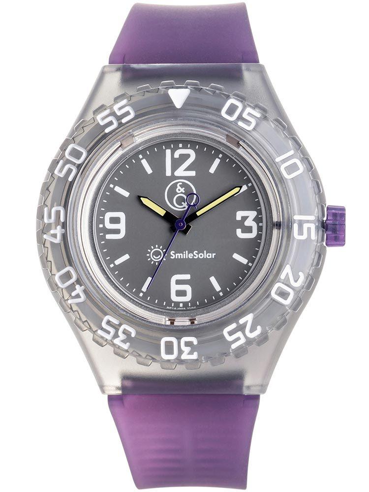 Montre Q&Q solaire bracelet violet