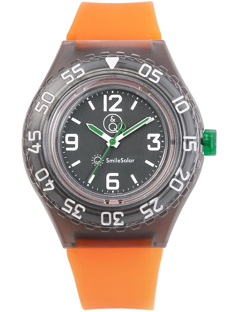 Montre Q&Q solaire bracelet orange