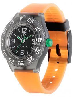 Montre Q&Q solaire bracelet orange
