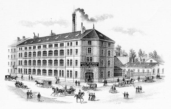 Bâtiment des établissement Lévy Frères, l'ancêtre du groupe UBMB dans les années 1900