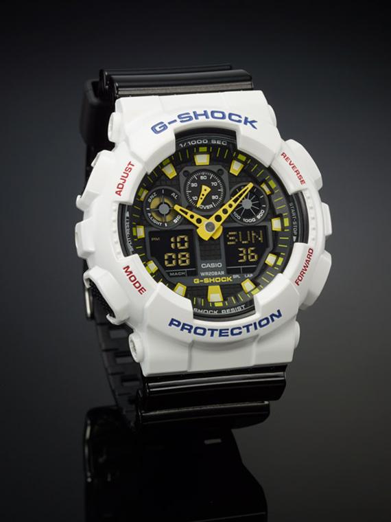 G-Shock noir et blanc