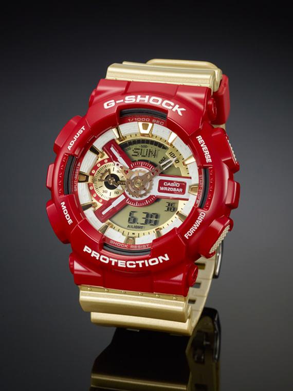g-shock rouge et or