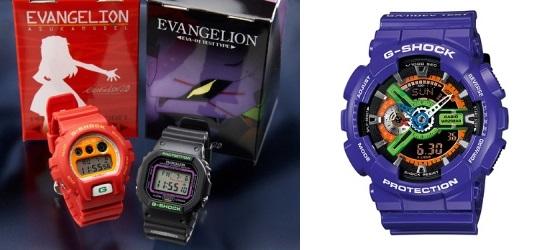 G-Shock-Evangelion EVA01 et Asuka