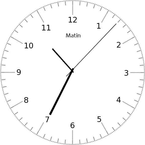 Apprendre à lire l'heure - exemple 10