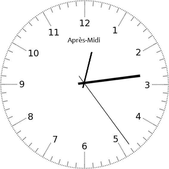 Apprendre à lire l'heure - exemple 11